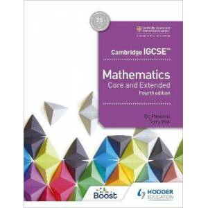 Hodder Education Cambridge IGCSE Mathematics Core and Extended 4th by Ric Pimentel
