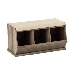 Nantucket Triple Bin Bench