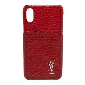 Yves Saint Laurent Saint Laurent Paris Red Croc Embossed Leather iPhone XS Max Case