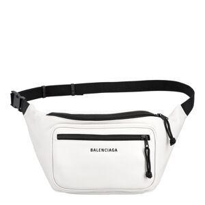 Balenciaga White Grained Leather Explorer Belt Bag