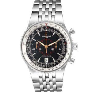 Breitling Black Stainless Steel Montbrillant Legende A23340 Men's Wristwatch 47 MM
