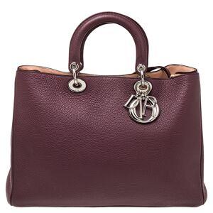 Christian Dior Burgundy Leather Large Diorissimo Shopper Tote