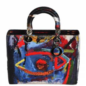 Christian Dior Multicolor Dior Lady Art Leather Large Lady Dior Tote Bag