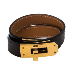 Hermes Hermés Étoupe Leather Mini Kelly Double Tour Bracelet XS