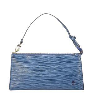 Louis Vuitton Blue Epi Leather Pochette Accessoires Bag