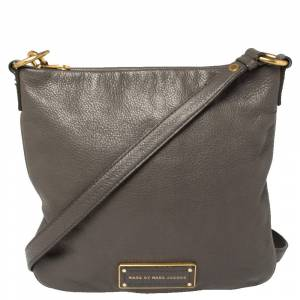 Marc by Marc Jacobs Grey Leather Small Messenger Bag