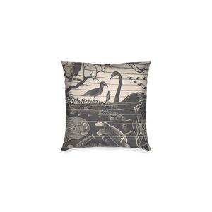 "Square Pillow Cover - Mc Escher in Brown/Green by VIDA Original Artist  - Size: Luster / 16"" / Single"