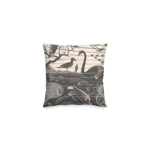"Square Pillow Cover - Mc Escher in Brown/Green by VIDA Original Artist  - Size: Matte / 16"" / Single"