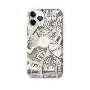 VIDA iPhone Case - Mc Escher Painting in White by VIDA Original Artist  - Size: iPhone 11 Pro / Ultraslim