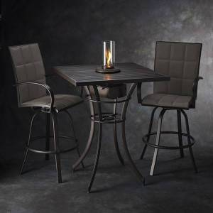 Empire Pub Table Bundle with Intrigue Fire Feature