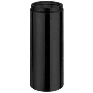 """6"""" DuraTech Black Chimney Pipe - 9"""" length"""