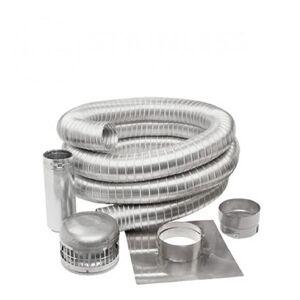 """Metal-Fab Stainless Steel Chimney Liner Kit - 6"""" Diameter"""