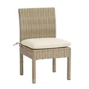 Ballard Designs Navio Side Chair Replacement Cushion Canvas Taupe Sunbrella - Ballard Designs