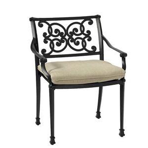 Ballard Designs Amalfi Dining Armchair Replacement Cushion Canvas Taupe Sunbrella with Sand Welt - Ballard Designs