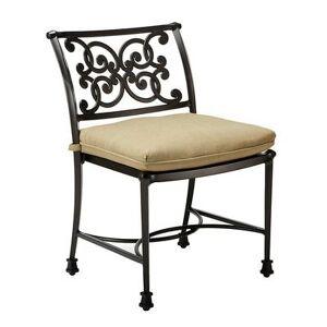 Ballard Designs Amalfi Dining Side Chair Replacement Cushion Canopy Stripe Granite/White Sunbrella - Ballard Designs