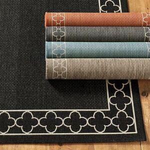 """Ballard Designs """"Suzanne Kasler Quatrefoil Border Indoor/Outdoor Rug Mineral 5'3"""""""" x 7'7"""""""" - Ballard Designs"""""""