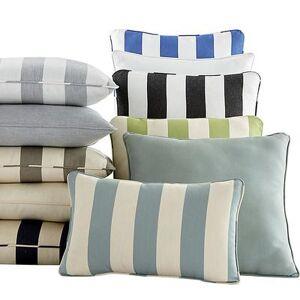 "Ballard Designs ""Outdoor Throw Pillow Canopy Stripe Black/Sand 20"""" x 20"""" - Ballard Designs"""