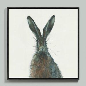 "Ballard Designs ""Henri the Hare Framed Canvas 30"""" x 30"""" - Ballard Designs"""