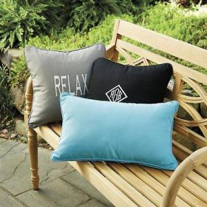 "Ballard Designs ""Monogrammed Outdoor Throw Pillow Cover Canvas Sand Sunbrella 20"""" x 20"""" - Ballard Designs"""