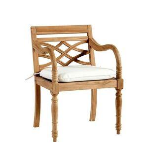 Ballard Designs Ceylon Teak Armchair Replacement Cushion Canvas Red Sunbrella - Ballard Designs