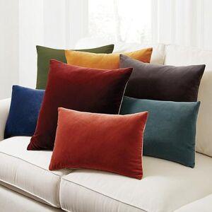"""Ballard Designs """"Signature Velvet & Linen Pillow Cover Terra Cotta 20"""""""" x20"""""""" - Ballard Designs"""""""