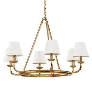 Ballard Designs Leigh 6-Light Chandelier with Shades White - Ballard Designs