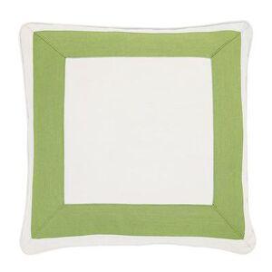 """Ballard Designs """"Outdoor Bordered Pillow Cover Canvas Spa Sunbrella 12"""""""" x 20"""""""" - Ballard Designs"""""""