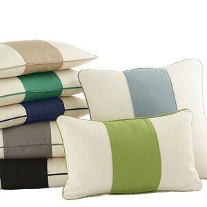 "Ballard Designs ""Color Block Indoor/Outdoor Pillow Cover Taupe/Sand 12"""" x 20"""" - Ballard Designs"""