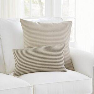 "Ballard Designs ""Alder Striped Pillow Brown 12"""" x 20"""" - Ballard Designs"""