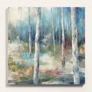 "Ballard Designs ""Wandering Wood Stretched Canvas 24"""" x 24"""" - Ballard Designs"""