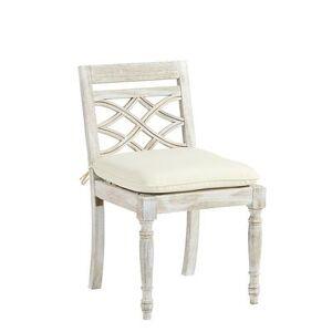 Ballard Designs Ceylon Whitewash Side Chair Replacement Cushion Canvas Granite Sunbrella - Ballard Designs