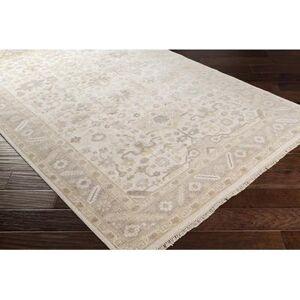 Hauteloom Barberville 9' x 13' Traditional Handmade Traditional Persian Khaki/Cream/Camel/Medium Gray Area Rug - Hauteloom