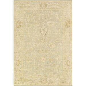 Hauteloom Wooroloo 8' x 10' Traditional 100% Wool Khaki/Cream/Beige/Camel/Taupe/Butter/Medium Gray Area Rug - Hauteloom