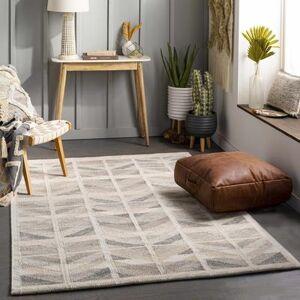 Hauteloom Mascouche 10' x 14' Modern 55% Viscose/25% Wool/15% Acrylic/5% Cotton Charcoal/Tan/Medium Gray/Light Gray/Beige/Cream Area Rug - Hauteloom