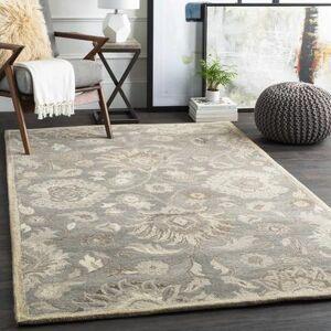 Hauteloom Fanrock 12' x 15' Traditional 100% Wool Taupe/Camel/Cream/Light Gray/Dark Brown Area Rug - Hauteloom