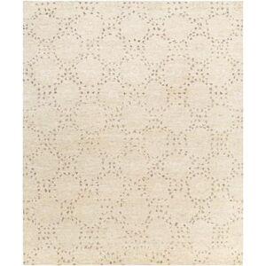 Hauteloom Banksia 8' x 10' Modern 90% Wool/10% Polyester Butter/Cream/Dark Brown/Charcoal/Camel/Black Area Rug - Hauteloom