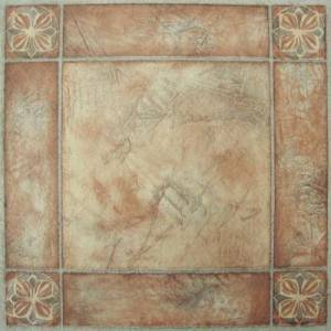 "Achim Home Dcor ""Nexus 12"""" x 12"""" Self Adhesive Vinyl Floor Tile by Achim Home Dcor in Rose"""