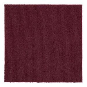 "Achim Home Dcor ""Nexus 12"""" x 12"""" Self Adhesive Carpet Floor Tile - 12 Tiles/12 sq. Ft. by Achim Home Dcor in Burgundy"""