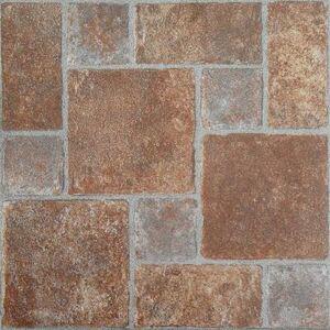 "Achim Home Dcor ""Nexus 12"""" x 12"""" Self Adhesive Vinyl Floor Tile by Achim Home Dcor in Brick"""