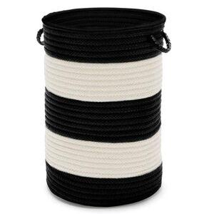 Colonial Mills Tyson Stripe Hamper by Colonial Mills in Black (Size 16X16X20)