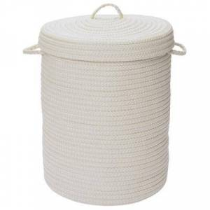 Colonial Mills Solid Texture Hamper with Lid by Colonial Mills in White (Size 16X16X20)