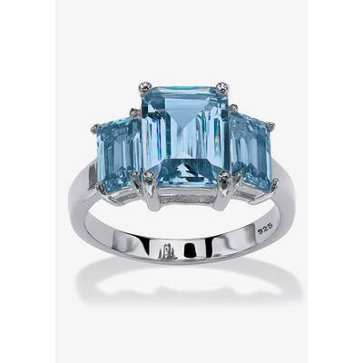 PalmBeach Jewelry Sterling Silver Simulated Birthstone Ring by PalmBeach Jewelry in March (Size 7)