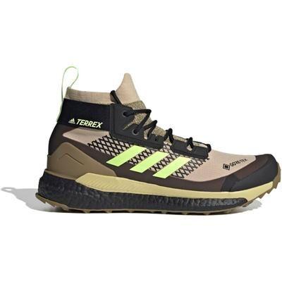 Adidas Outdoor Terrex Free Hiker GTX Hiking Shoes - Men's Savannah/Hi-Res Yellow/Core Black 10.5