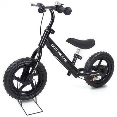 """Costway """"Costway 12"""""""" Four Colors Kids Balance Bike Scooter with Brakes and Bell-Black"""""""