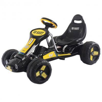Costway Go Kart Kids Ride On Car Pedal Powered Car 4 Wheel Racer Toy Stealth Outdoor-Black