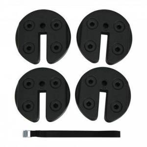 Costway 4Pcs 20Lbs Water Filled Weight Plates for Shade Umbrella