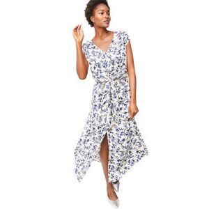 ellos Plus Size Women's Tie-Front Maxi Dress by ellos in Butter Periwinkle Floral (Size 20)