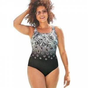 Swimsuits For All Plus Size Women's Chlorine Resistant Tank One Piece Swimsuit by Swimsuits For All in White (Size 14)
