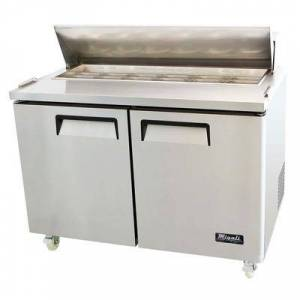 "Migali ""Migali C-SP48-12-HC 48 1/5"""" Sandwich/Salad Prep Table w/ Refrigerated Base, 115v"""