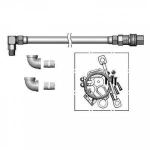 """T&S """"T&S HG-4D-48SEL-FF 48"""""""" Gas Hose w/ w/ Quick Disconnect, (2) 3/4"""""""" Elbows, & 5 ft Restraining Cable Kit - 3/4"""""""" NPT"""""""